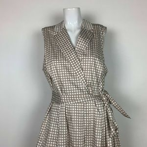 Anne Klein Dresses - Anne Klein Dress Printed Notch Collar Size 18 Plus